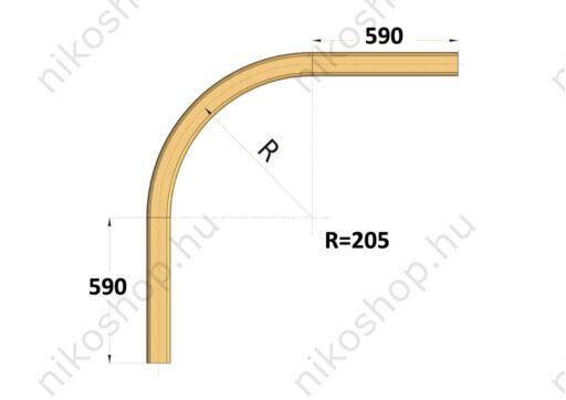 Íves sín 90°, r=205 mm
