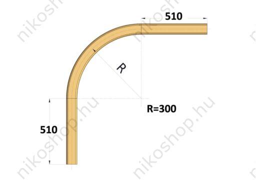Íves sín 90°, r=300 mm