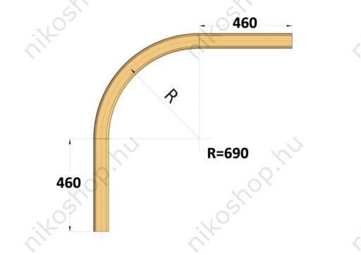 Íves sín 90°, r=690 mm