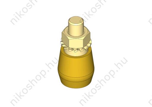 Sárgaréz vezetőgörgő csavarmenettel (M12)