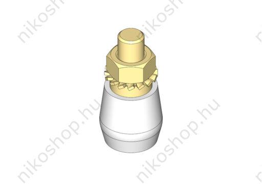 Műanyag vezetőgörgő csavarmenettel (M12)